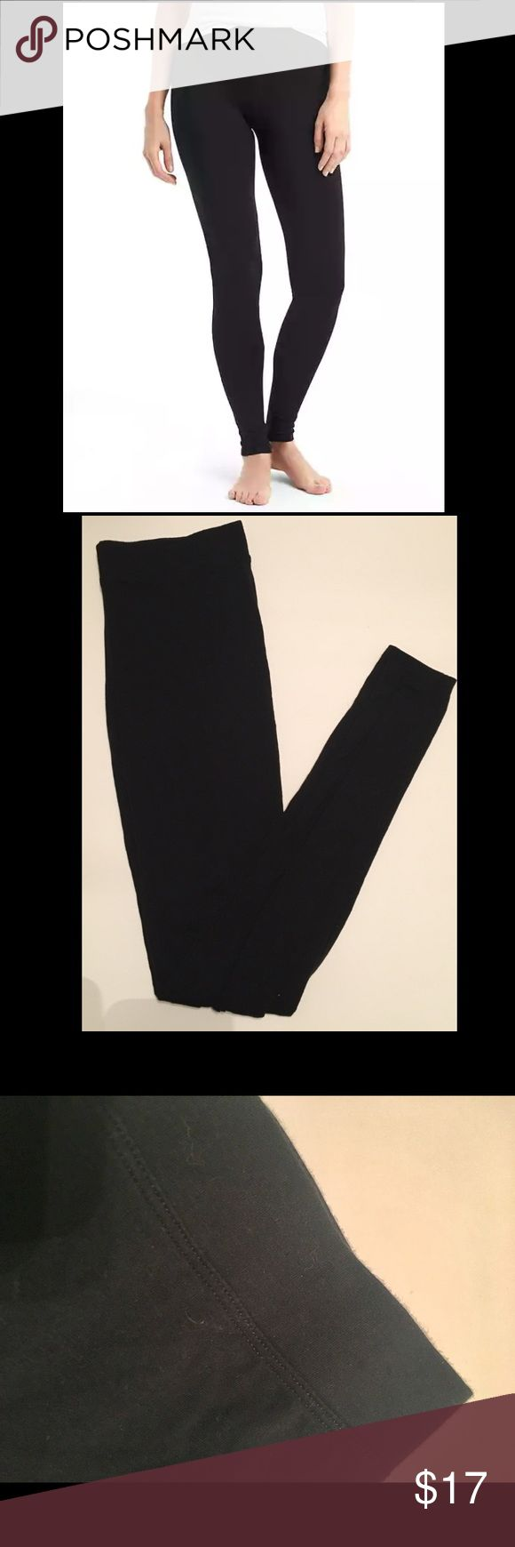 GAP pure body black leggings Nice thick black leggings from Gap Body | Great condition | Only worn a few times GAP Pants Leggings