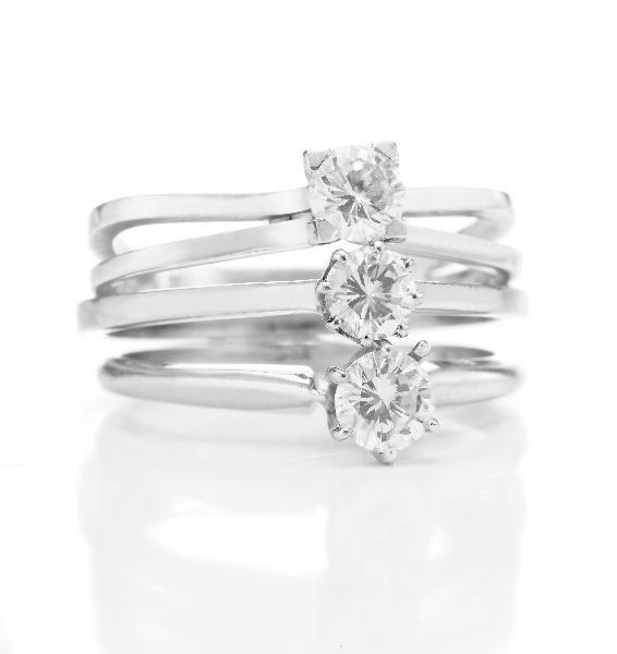 Ping Pong Diamond Rings