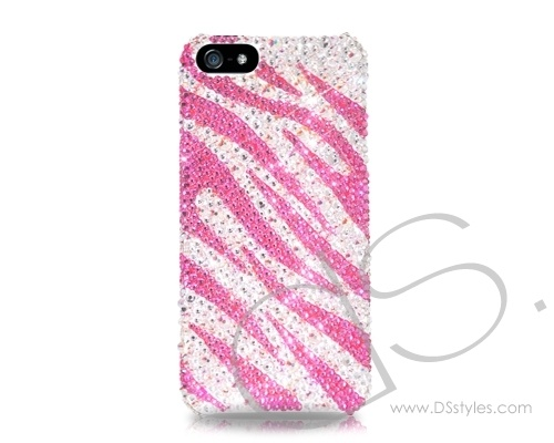 Zebra Wave Bling Crystal Phone Case - Pink  http://www.dsstyles.com/iphone-5-cases/swarovski-series-zebra-wave-swarovski-crystal-phone-case-pink.html