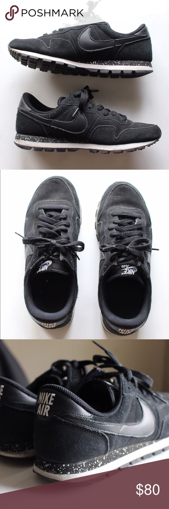Nike Air Tennis Shoes (NikeID Customized) Size 9 All black Nike Air Tennis Shoes. Suede black material. Like new, worn only a couple times. Size: 9 Nike Shoes Athletic Shoes