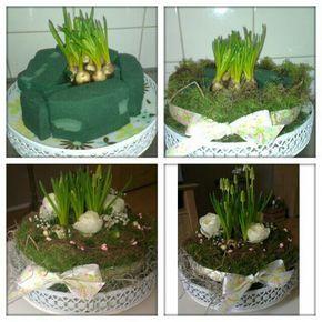 Een Lente taart diy easter leuk met paaseieren erin