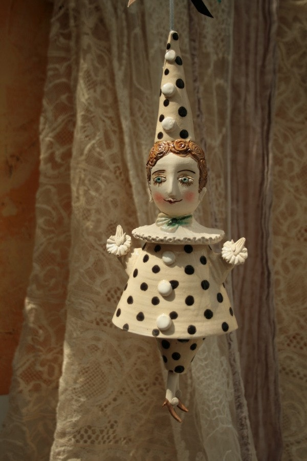 Pierrot. Sculpture, bell, doll. $86.00, via Etsy.