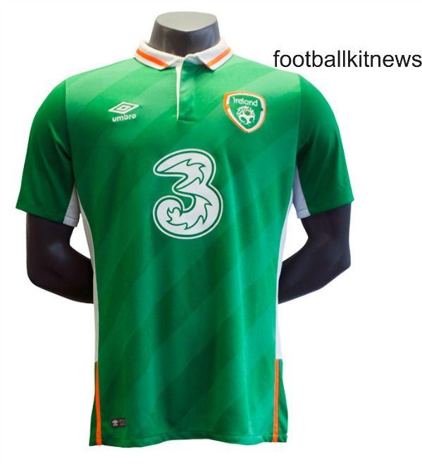 New Ireland Euro 2016 Top- Umbro Republic of Ireland Home Shirt 2016/2017