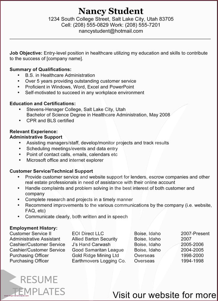 resume example administrative assistant in 2020 Customer