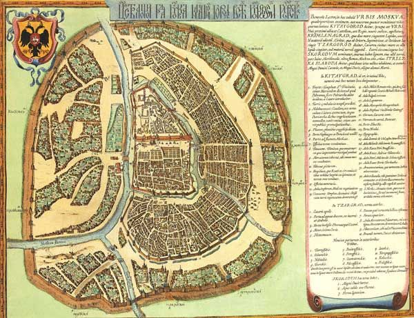 Старинная карта Москвы - Старые карты - Terra Incognita. Сайт Рэдрика