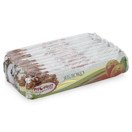 """батончики """"Фито Фрут"""", яблоко, 40гр (упаковка 10шт)  — 390р. --- Батончик Фито Фрут - сбалансированный источник витаминов и микроэлементов. Представляет собой пластинку из орехов и фруктов в тонкой пшеничной вафле. Он надежно упакован, его легко взять с собой в дорогу или в школу. Он не тает в тепле, не пачкает рук. В составе батончика есть миндаль и фундук. Миндаль практически не содержит углеводов, зато является лидером по содержанию белка. В нем много витамина Е, магния, цинка, железа…"""