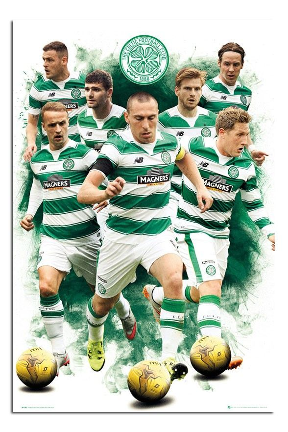 Celtic FC 2015 - 2016 Players Poster