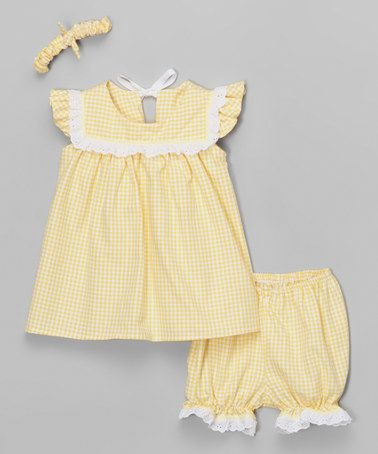 Look what I found on #zulily! Yellow Gingham Top Set - Infant & Toddler #zulilyfinds