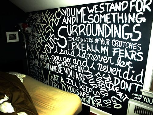 Love this! Wall of lyrics from a day to remember but it would be better if it was sleeping with sirens or paramore. <3 ALWAYD wanted to do this.