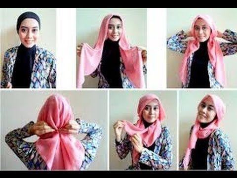▶ Tutorial Hijab Paris Segi Empat Terbaru Dan Simple - YouTube