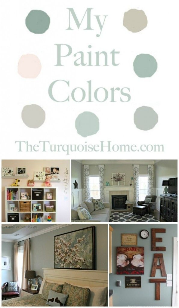 The Paint Colors in My Home | TheTurquoiseHome.com