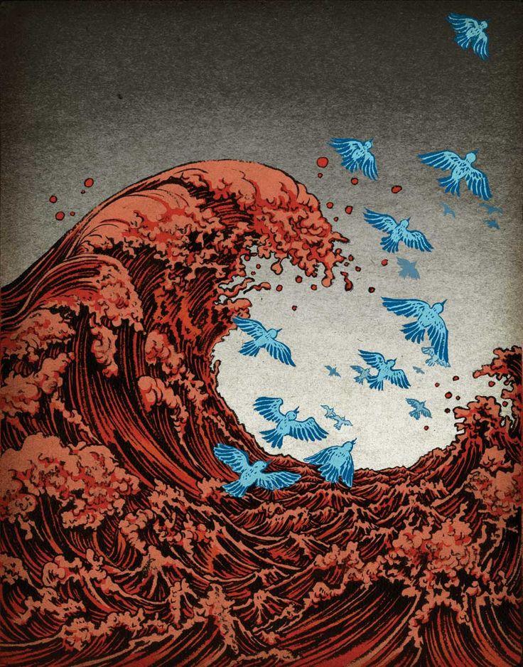 NEWSWEEK cover Twitter Tsunami - Yuko Shimizu