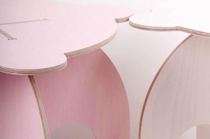 Sweet Pinkey table inspired by book Slečny - Misses made by fashion designer Anna Marešová III