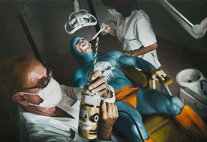 La historia en pintura de un viejo superhéroe por Andreas Englund | OLDSKULL.NET