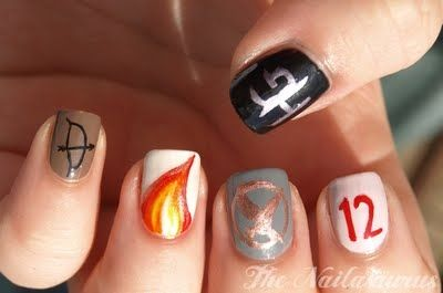 Hunger Games nails... yesss http://media-cache5.pinterest.com/upload/76631631129519207_nTW7uyof_f.jpg abbydi crafts