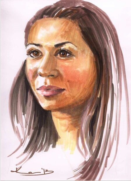 Portrait by Kate Kos - markers