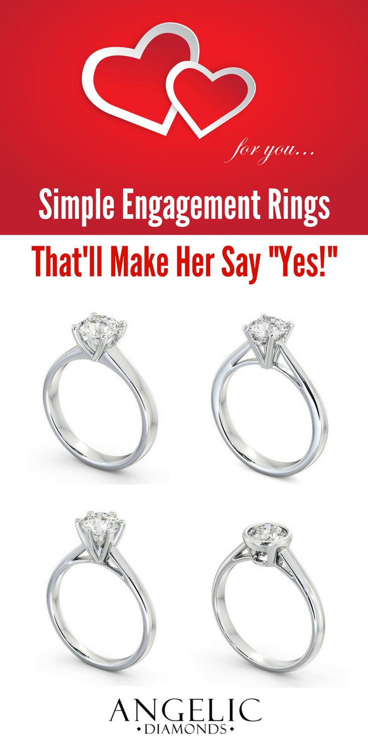 Simple Engagement Rings Thatu0027ll Definitely Make Her Say Yes! Choose Her  Perfect Diamond