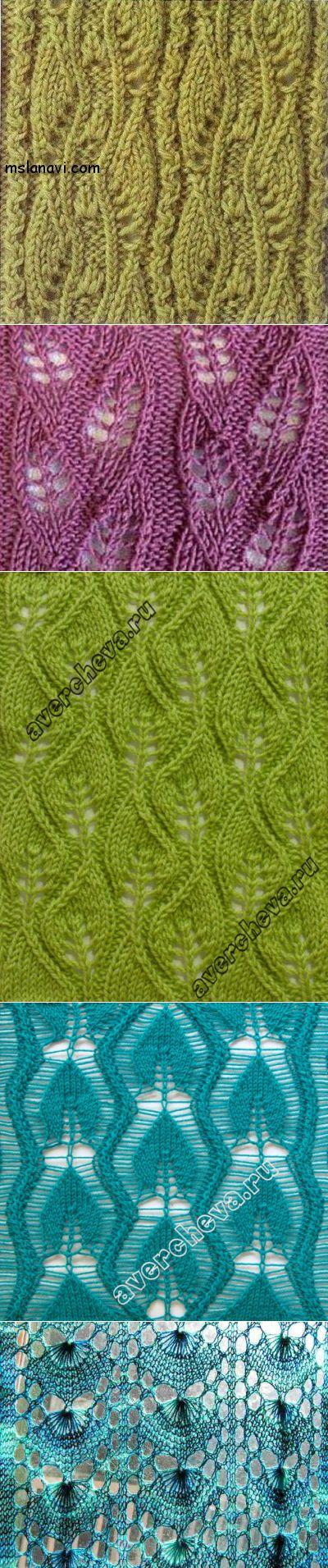 Узоры для вязания спицами. Подборка 60