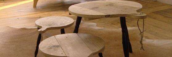 Een tafel van kaasplanken; Eigen Huis & Tuin