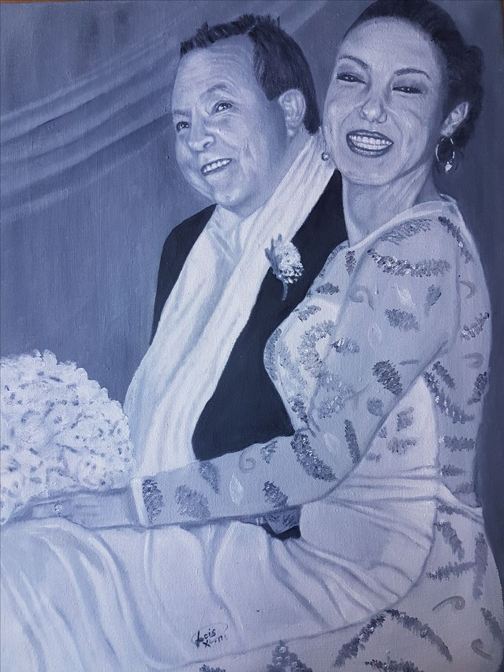 """Oil on canvas - 660mm x 515mm entitled """"WE DO"""""""