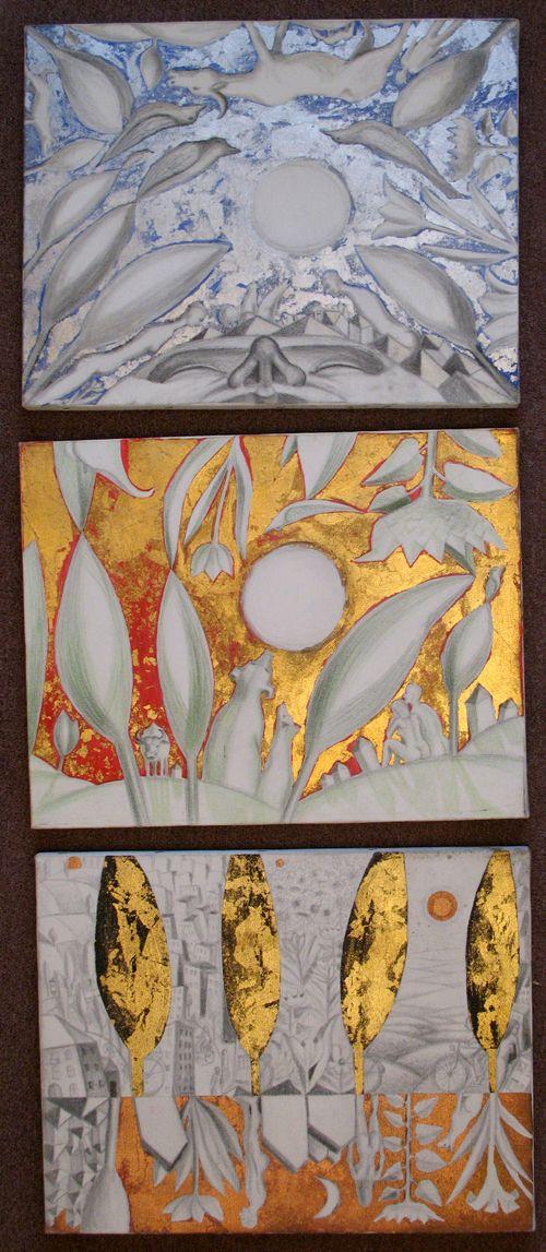 3 picturi.stralucitoare.acrilic.schlagmetal