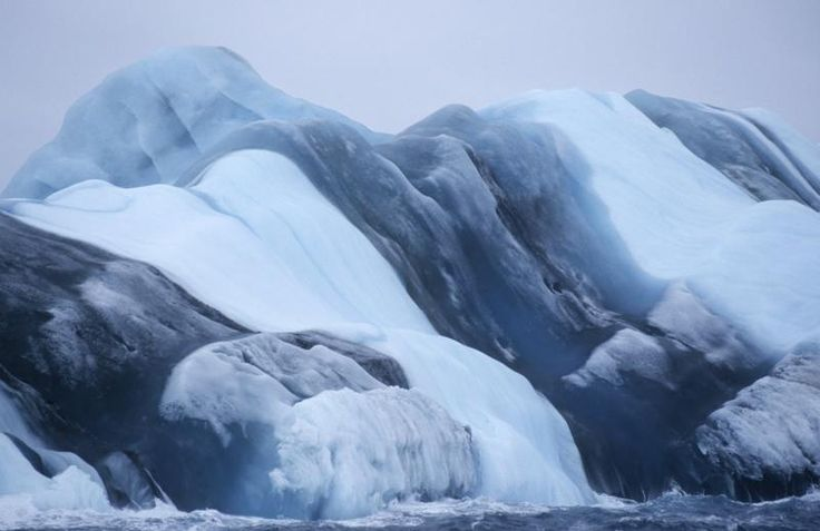 Striped Icebergs? Only in Antartica!