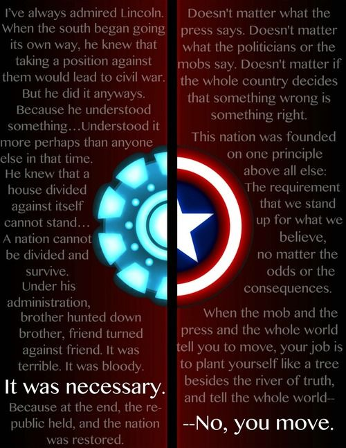 Captain America Quote that fits our times so well. Gave me chills
