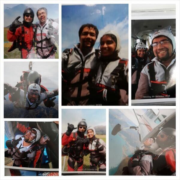 @Priya Shamdasani sky diving #12000feet #experience #honeymoon #queenstown