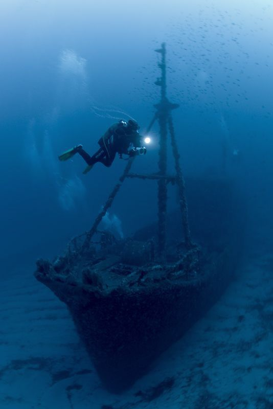 "Roland Bach - the wreck of the ""Santa"" not far from the coast from the island Menorca."