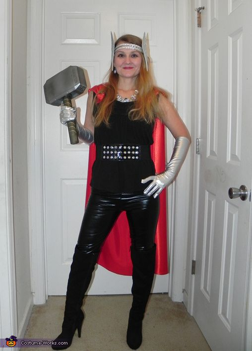 Tyann: This is a costume I've wanted to do since the movie Thor first came out. I bought this really cool hammer that makes a thunder and lightning sound. My friends...