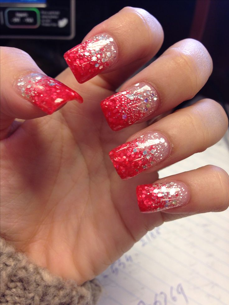 Pink glitter faded on my nails