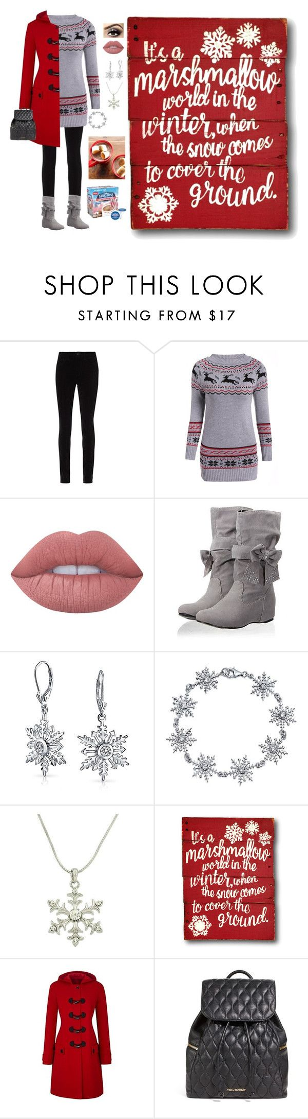 """""""Winter Time"""" by pinky-dee ❤ liked on Polyvore featuring L'Agence, Lime Crime, Bling Jewelry, Vera Bradley and Keurig"""