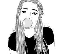 Inspirant de l'image art, noir et blanc, blondes, bulle, dessin, crayon à paupières, mode, fille, grunge, chewing-gum, hipster, agréable, chemise, style #3281276 par patrisha - Résolution 500x500px - Trouver l'image à votre goût