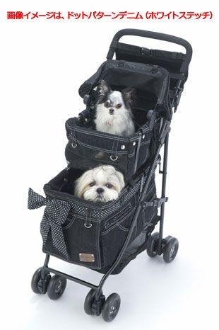 Rakuten Mother Cart (mother cart) agility dot pattern denim (Gold stitch) the upper and lower set [small dog carry bag / carry cart / pet cart / pet buggy / dog supplies / Free Shipping: TIARA PETS - price¥ 45,361 (including tax 48,990 yen)  @0.078 HK$3821 05-09-16