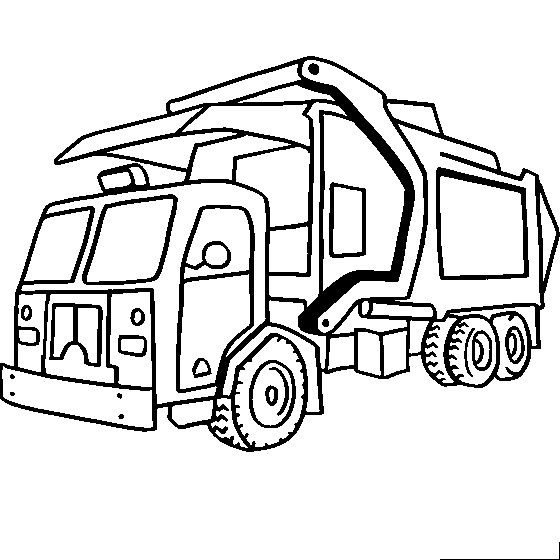 Free Trucks And Construction Vehicle Coloring Pages Color In This Picture Of A Garbage Truck Others With Our Library Online