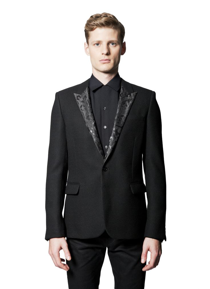 New Arrival Cheap Price Cheap Sale 100% Guaranteed embroidered-lapel blazer - Black Saint Laurent WAAHP3Et