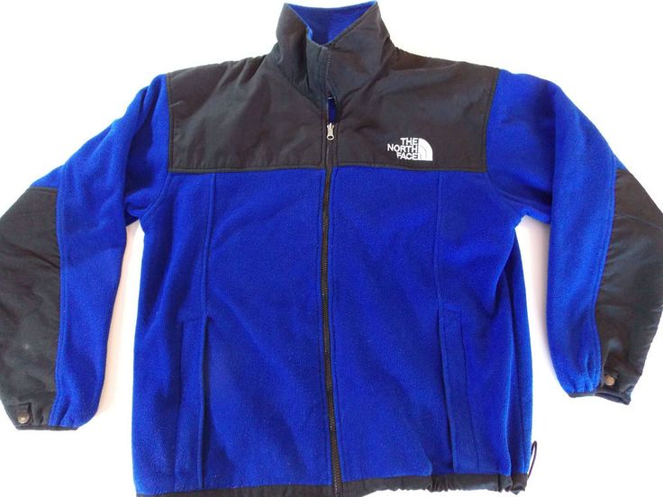 The North Face Summit Series Men's Blue & Black Fleece Zip Up Jacket Size L  #TheNorthFace #FleeceJacket