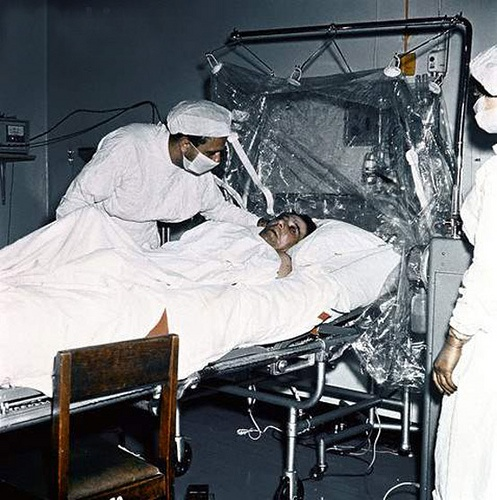 World's first heart transplant 4/12/67    Mr.Louis Washkansky was the world's first heart transplant recipient at Groote Schuur hospital on Monday 4th December 1967. This fantastic operation was performed by Professor Chris Barnard and his team when they successfully transplanted the heart of Denise Darvall (killed by a car in Woodstock) into the chest of Mr. Washkansky.  This photo of Mr. Washkansky in hospital, is to my knowledge the only known colour image in existence