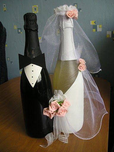 Свадебные бутылки . Комментарии : LiveInternet - Российский Сервис Онлайн-Дневников