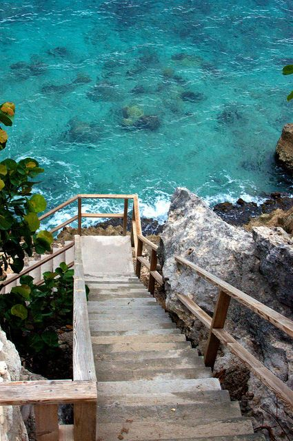 Sea Stairs, Island of Curaco: Water, Favorite Places, Beautiful Places, Stairway To Heaven, Sea, Beach, Travel, Stairways, Heavens