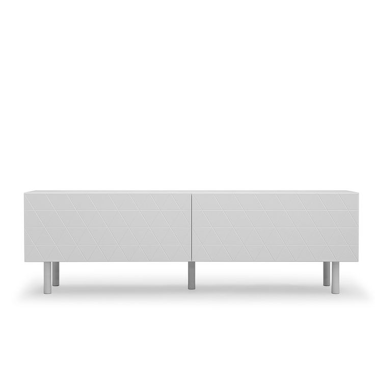 Abstract Mediabenk 180, Lys grå, Decotique