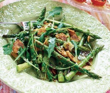 Recept: Stekt sparris med potatis i dragon och citron