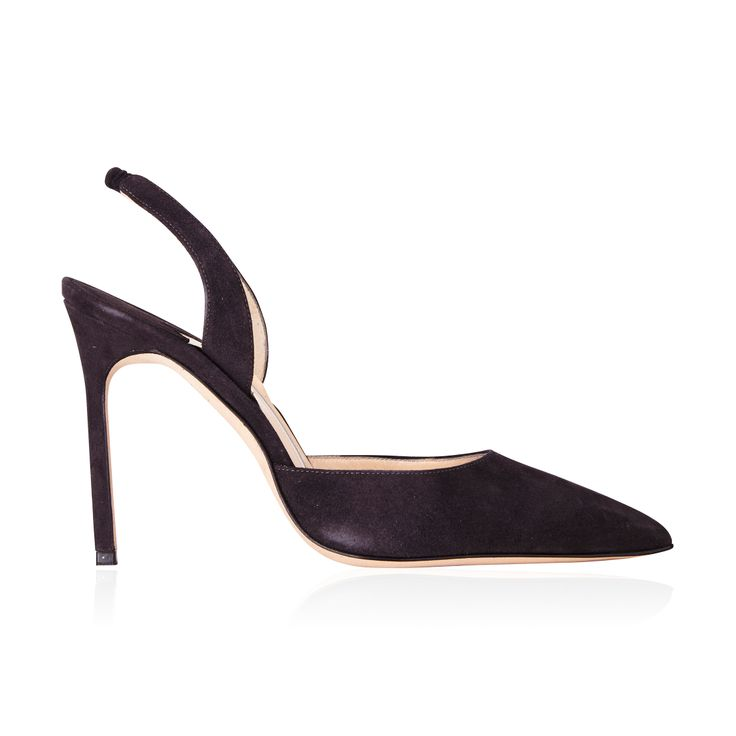 Manolo Blahnik Carolyne Slingback Pump Grey - The 'Carolyne' Sling back in Grey is an effortlessly classic pump that is versatile, suitable for corporate attire or an evening out.