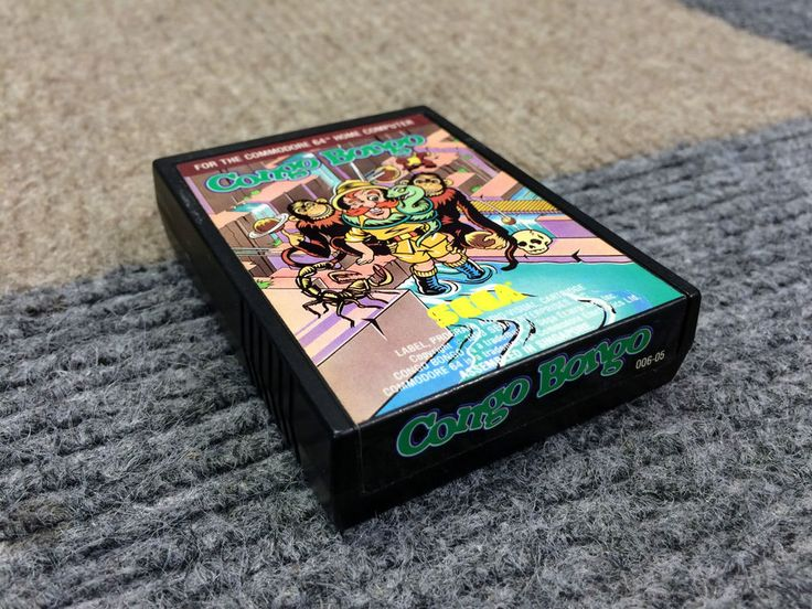COMMODORE 64 SYSTEM COMPUTER SEGA CONGO BONGO GAME CARTRIDGE ONLY WORKS PERFECT