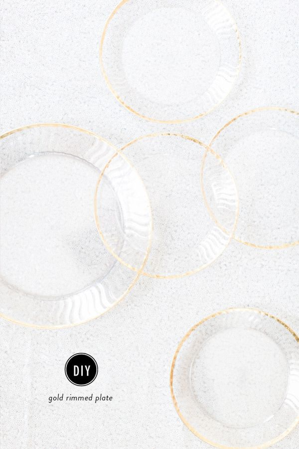 Gold Disposable Plates
