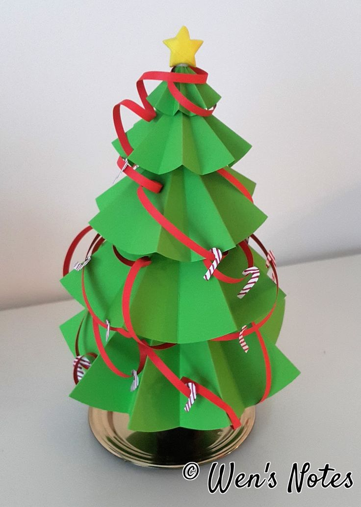 Paper Christmas Tree | Wen's Notes