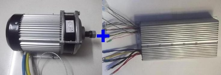 335.80$  Watch now - http://aliptm.worldwells.pw/go.php?t=32667711608 - Fast Shipping 2200W 60V DC 36 mofset BC636-22095 1pc brushless motor + 1pc controller E-bike electric bicycle speed control