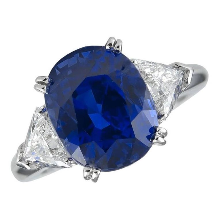 Boucheron Paris AGL Certified Natural 6.15 Carat Ceylon Sapphire Diamond Ring   From a unique collection of vintage more rings at https://www.1stdibs.com/jewelry/rings/more-rings/