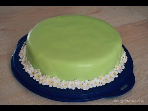 Backvideo Fondant Torte Erdbeer Yogurette Füllung - YouTube