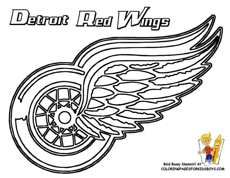 nhl mascots coloring pages print kaboodle detroit red wings logo nhl vinyl decal sticker